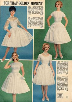 lana lobell | Lana Lobell 1962 | Flickr - Photo Sharing! white dress vintage fashion style fit flare full skirt cocktail wedding picnic prom coming out dress lace sheer 50s 60s