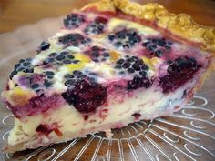 Blackberry custard pie -