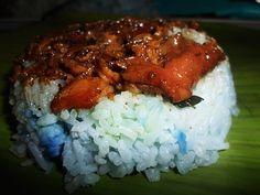 Chicken Blue Rice Pastil
