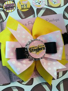 Pittsburgh Steelers Girl Girly Headband/Clip
