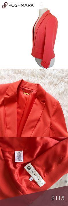 "• Trina Turk • Orange Blazer Stunning like NEW bright orange blazer. 16"" bust. 21"" length. 15"" shoulder to shoulder. Trina Turk Jackets & Coats Blazers"