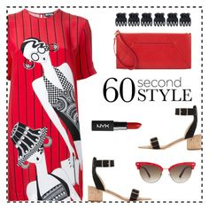 """""""60-Second Style: The T-Shirt Dress"""" by rasa-j ❤ liked on Polyvore featuring Holly Fulton, All Tomorrow's Parties, Gucci, Neiman Marcus, Accessorize, NYX, tshirtdresses and 60secondstyle"""