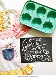 {So cute for Mother's Day} Baking Is My Superpower | Free Art Print | by Jessica Kirkland for TheCakeBlog.com