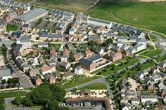 Aerial view of Poundbury.