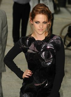 Kristen Stewart new face of balenciaga taking fashion risks. Really cool sequins