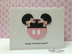 CAS on Sunday...Minnie Mouse Card