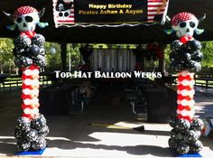 Pirate Balloon Columns for Entrance