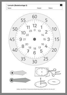 Make your own learning clock- Bastle deine eigene Lernuhr Make your own learning clock - Learning Clock, Learning Time, Kids Learning, Primary Maths, Primary School, Math Games, Math Activities, Maila, Telling Time
