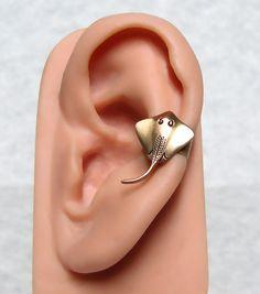 Sting Ray Nautical Ear Cuff