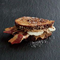 banana bacon sandwich snack   In the ultimate combination of savory and sweet, this sandwich snack combines banana and bacon for an unbeatable mid-day treat.   CookingLight