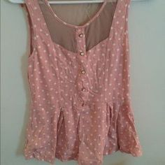 Urban Outfitters Tops - Urban outfitters Pink polka dot tank top