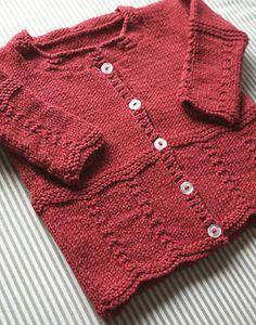 Ravelry: Chesapeake Baby Ballroom Cardi pattern by Stephanie Voyer Baby Cardigan, Baby Pullover, Baby Clothes Patterns, Baby Knitting Patterns, Baby Patterns, Knitted Baby Clothes, Knitted Baby Blankets, Crochet Wool, Crochet Baby
