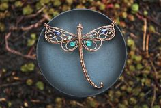 Dragonfly Necklace II by twistedjewelry.deviantart.com on @DeviantArt