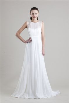 Jenny Yoo A-Line Wedding Gown in Luxe Chiffon $600