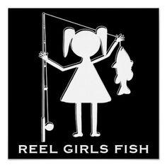 REEL GIRLS FISH - POSTER
