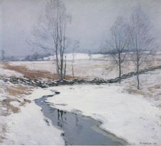 The First Snow, 1906 - Willard Leroy Metcalf (American, 1858-1925)