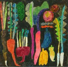 "Mrs. Knight's Smartest Artists: ""Veggie-Glo"" -3rd grade paintings"