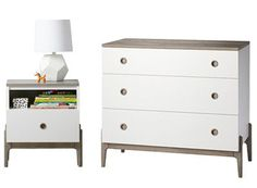 Our Wrightwood Nightstand has made it easier than ever to create the right look right away for any room in your home.  The stunning, two-tone stained grey and white finish allows the nightstand to coordinate with your other furniture and decor, while still standing out on its own.  It features a spacious drawer, so it's as practical as it is stylish.