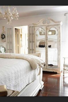 Lovely!  Gorgeous armoire and check out those French doors!