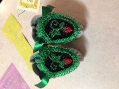 Raised beadwork- haudenosaunee style moccasins