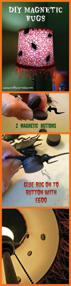 Crafty in Crosby: DIY Magnetic Bugs