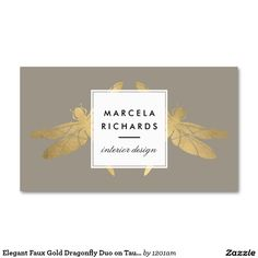 246 best business cards for interior designers decorators images beautiful gold dragonfly business card for interior designers fully customizable colourmoves