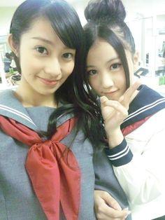 乃木坂46 (nogizaka46) Sakurai Reika (桜井 玲香) and Hoshino Minami (星野 みなみ) ~ i find hoshimina kinda feel most comfortable with reika >__< ♥ ♥ ♥ ♥ ♥