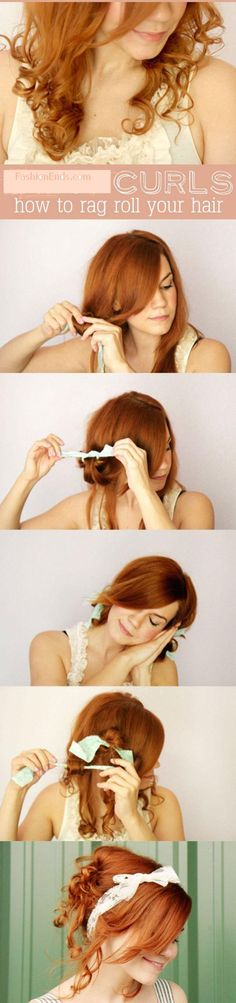 How to Rag Roll your Hair step By Step