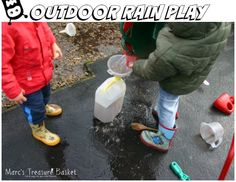 Transferring, Pouring, Scooping, Filling and Dumping - Rain Play