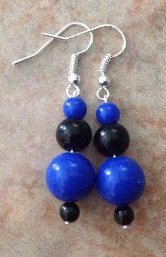 Perlas azul y negro