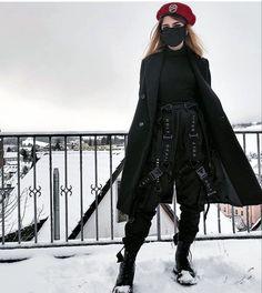 Egirl Fashion, Fashion Terms, Dark Fashion, Retro Fashion, Fashion Outfits, Edgy Outfits, Grunge Outfits, Cool Outfits, Estilo Cool
