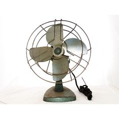 Oh Industry vintage 1950s industrial fan (€42) ❤ liked on Polyvore featuring home and home decor