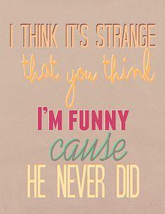 Funny dating song lyrics