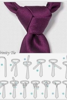 How to tie a trinity tie Cool Tie Knots, Cool Ties, Clothing Hacks, Mens Clothing Styles, Tie Knot Styles, Tie A Necktie, Necktie Knots, The Knot, Men Style Tips