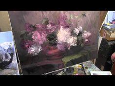 Научиться рисовать букет сирени, уроки живописи для взрослых - YouTube