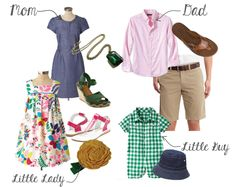 perfect spring/summer family photo shoot outfits!