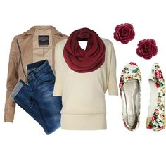 """""""Floral Flats"""" by qtpiekelso on Polyvore"""