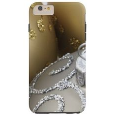 Shiny Christmas Glittered Ornaments - Gold Silver Tough iPhone 6 Plus Case