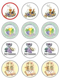 First Holy Communion Edible Icing CupCake Toppers girls & boys mixed design Edible Cupcake Toppers, Cupcake Icing, Communion Cups, First Holy Communion, Food Coloring, Holi, Girls, Ebay, Design