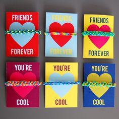 hey jen renee: Rainbow Loom Valentines (with free printable cards!)