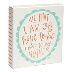 Tell mom how you really feel this Mother's Day. Owe to Mom Box Sign #MothersDay #Gifts #PicturePerfect