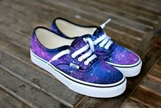 Galaxy Vans shoes by BStreetShoes on Etsy                                                                                                                                                                                 Más