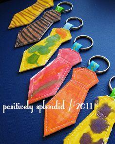 necktie key rings