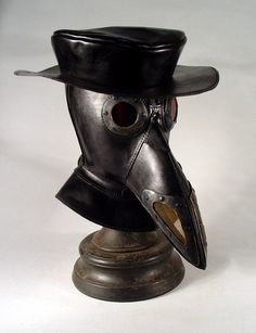 Bob Basset. Steampunk Plague Doctor mask With Hat.