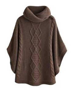 TESS Womens Knitted Poncho