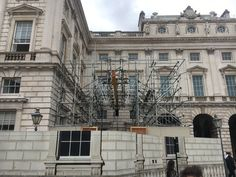 Building wrap installation is an effective way of disguising scaffolding whilst necessary construction work is being carried out. Listed Building, Scaffolding, Filming Locations, 16th Century, Somerset, Three Dimensional, Wraps, Street View, Construction