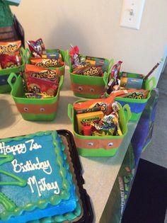 Ninja turtle goodie bags Turtle Birthday Parties, Ninja Turtle Birthday, Ninja Turtle Party, Carnival Birthday Parties, Birthday Fun, Ninja Turtles, Birthday Ideas, Monster High Birthday, Monster High Party