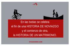 En las #bodas se celebra el fin de una historia de #noviazgo y el comienzo de otra, la #historia de un #matrimonio. #novios #boda #sectornupcial #sectordelaboda #copywriting #storytelling #blogstoryfriendly