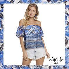 A blusa da estação com uma estampa power diva para querer usar todos os dias do ano! 💙  http://www.vinculobasic.com.br/ #vinculobasic #verao2017 #fashion #trend