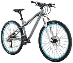 Diamondback Bicycles Womens 2016 Lux Sport Hard Tail Complete Mountain Bike Dark Silver * Check out the image by visiting the link. Mountain Bike Accessories, Mountain Bike Shoes, Cool Bike Accessories, Best Cheap Mountain Bike, Mountain Biking Women, Bicycle Women, Road Bike Women, Beach Volleyball, Skate